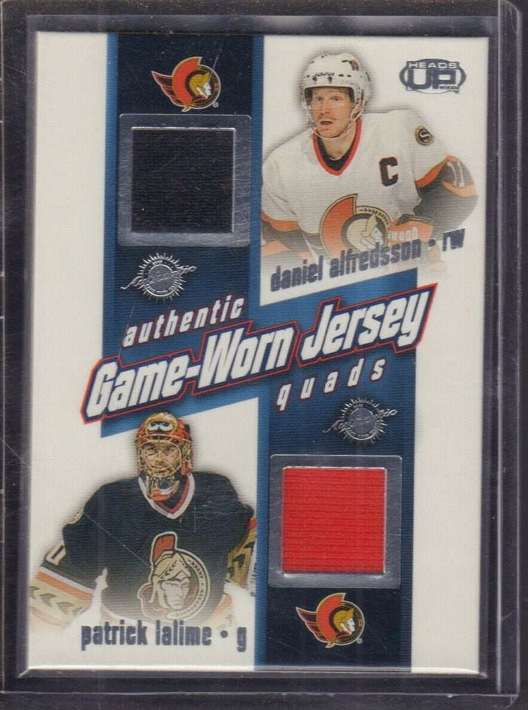 Patrick Lalime Martin Haviat Jersey Quads Pacific Heads Up '03 020619DBCD