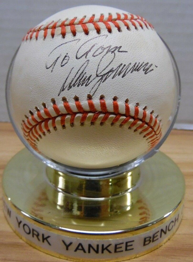 Don Zimmer NY Yankees Coach Personalized Autographed Ball w/COA 121317DBT