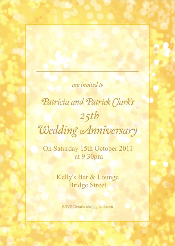 Wedding Anniversary Invite 5401 - Jayceefinecards