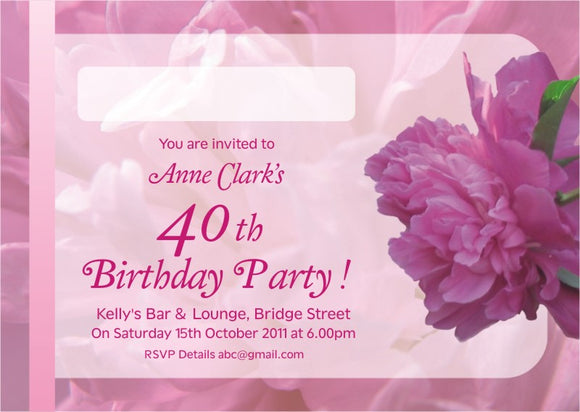 40s to 50s Party Invite 5301 - Jayceefinecards