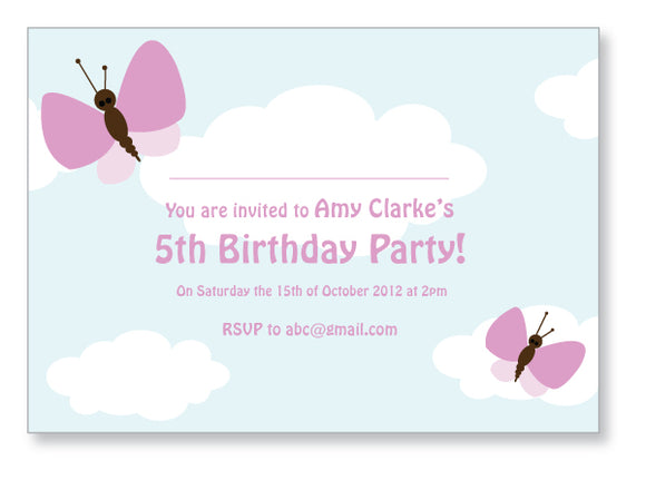 Kids Party Invite 5002 - Jayceefinecards