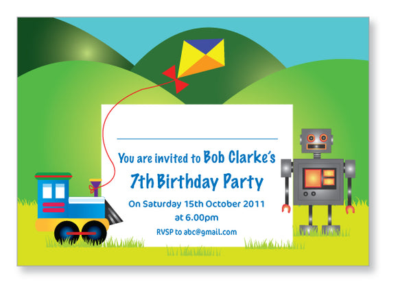 Kids Party Invite 5003 - Jayceefinecards