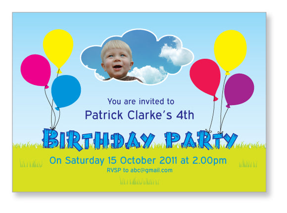 Kids Party Invite 5004 - Jayceefinecards