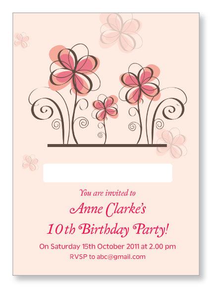 Kids Party Invite 5022 - Jayceefinecards