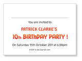Kids Party Invite 5043 Folded - Jaycee
