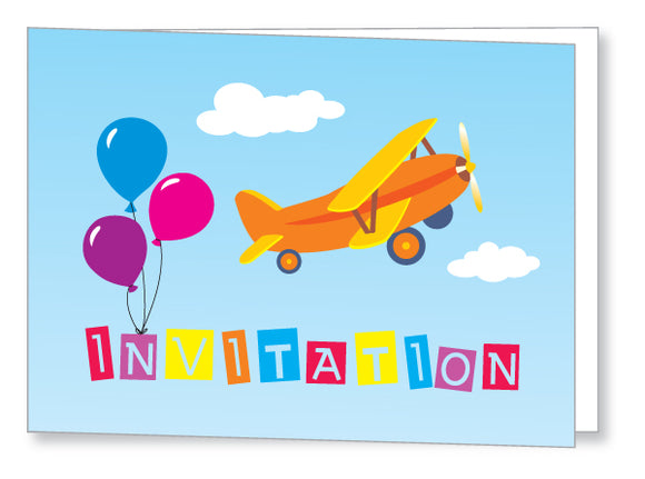 Kids Party Invite 5044 Folded - Jayceefinecards