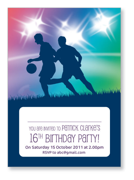 Teen Party Invite 5104 - Jayceefinecards