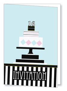 Teen Party Invite 5161 Folded - Jayceefinecards