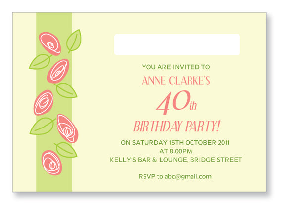 40s to 50s Party Invite 5302 - Jayceefinecards