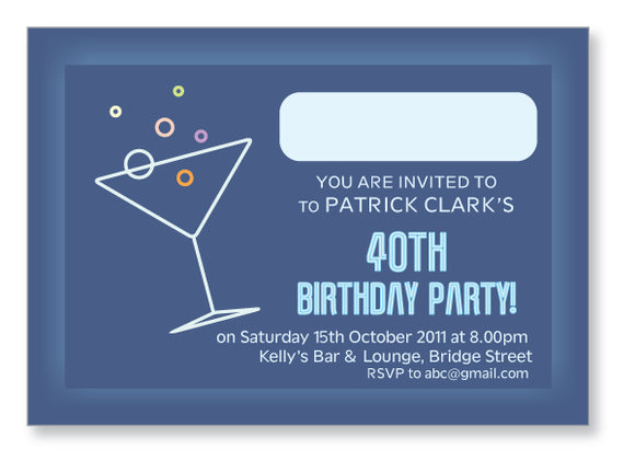 40s to 50s Party Invite 5303 - Jayceefinecards