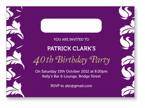 40s to 50s Party Invite 5304 - Jayceefinecards