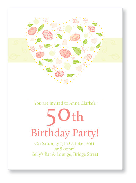 40s to 50s Party Invite 5321 - Jayceefinecards
