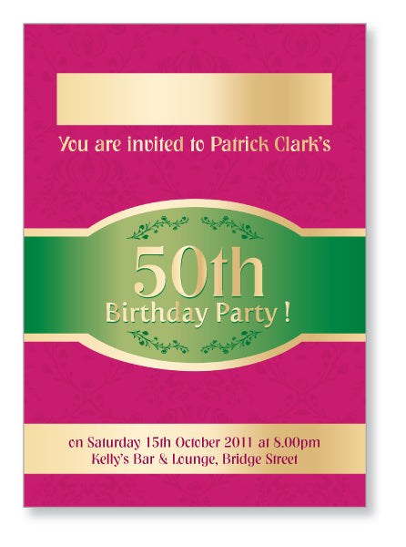 40s to 50s Party Invite 5322 - Jayceefinecards