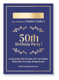 40s to 50s Party Invite 5323 - Jayceefinecards