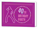 40s to 50s Party Invite 5341 Folded - Jayceefinecards