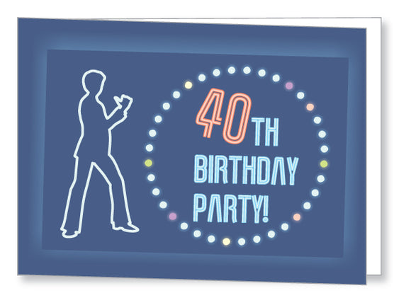 40s to 50s Party Invite 5343 Folded - Jayceefinecards