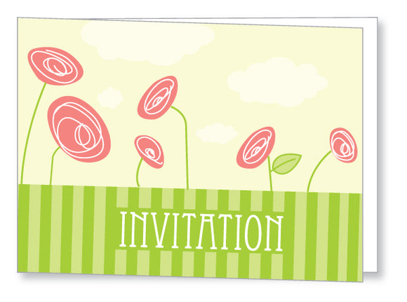 40s to 50s Party Invite 5345 Folded - Jayceefinecards