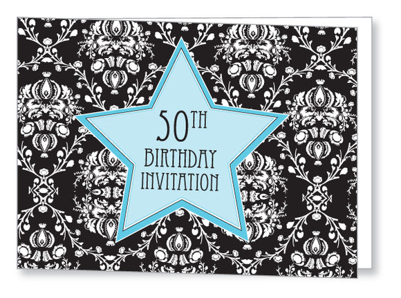 40s to 50s Party Invite 5347 Folded - Jayceefinecards