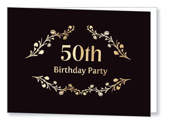 40s to 50s Party Invite 5348 Folded - Jayceefinecards