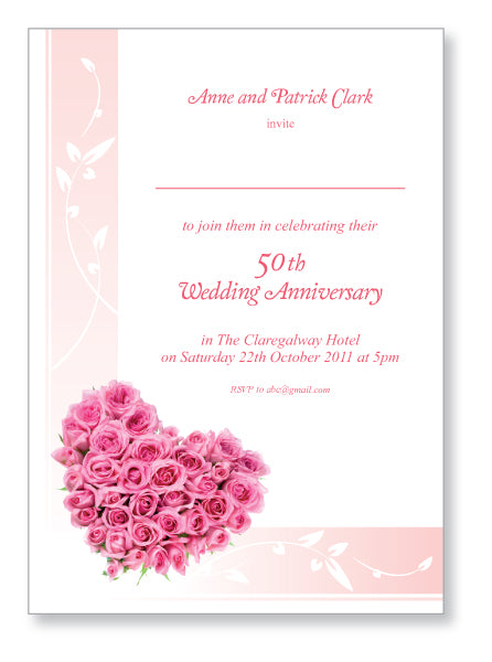 Wedding Anniversary Invite 5403 - Jayceefinecards