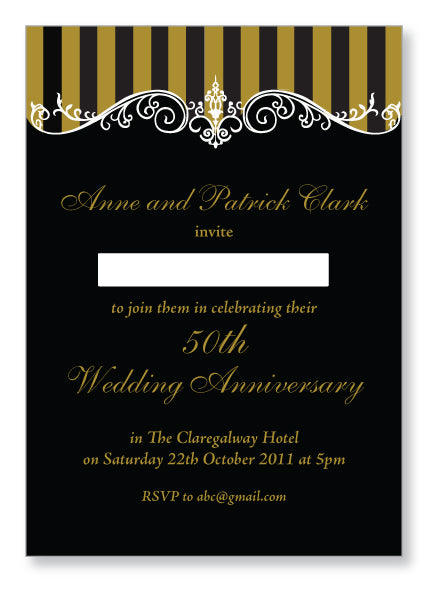 Wedding Anniversary Invite 5406 - Jayceefinecards