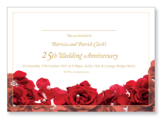 Wedding Anniversary Invite 5421 - Jayceefinecards