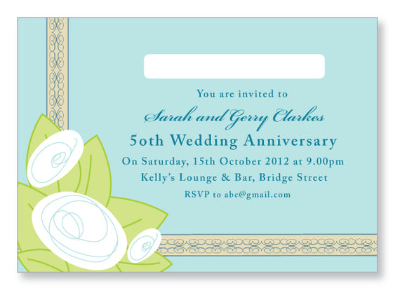 Wedding Anniversary Invite 5422 - Jayceefinecards