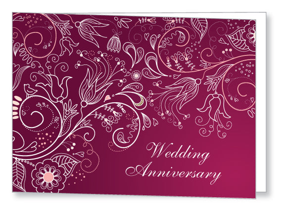 Wedding Anniversary Invite 5447 Folded - Jayceefinecards