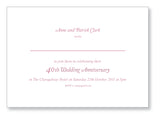Wedding Anniversary Invite 5448 Folded - Jaycee