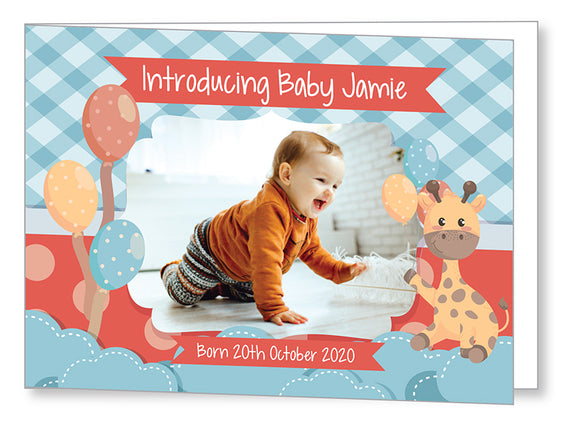 Baby Card 5545 Folded - Jayceefinecards