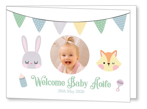 Baby Card 5547 Folded - Jayceefinecards