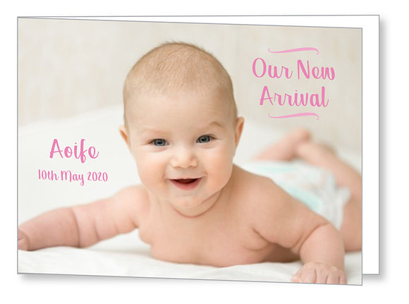 Baby Card 5549 Folded - Jayceefinecards