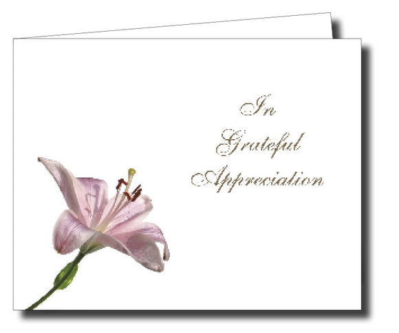 Acknowledgment Card Folded 1451 - Jayceefinecards