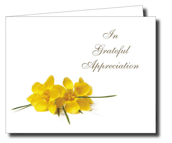 Acknowledgment Card Folded 1452 - Jayceefinecards