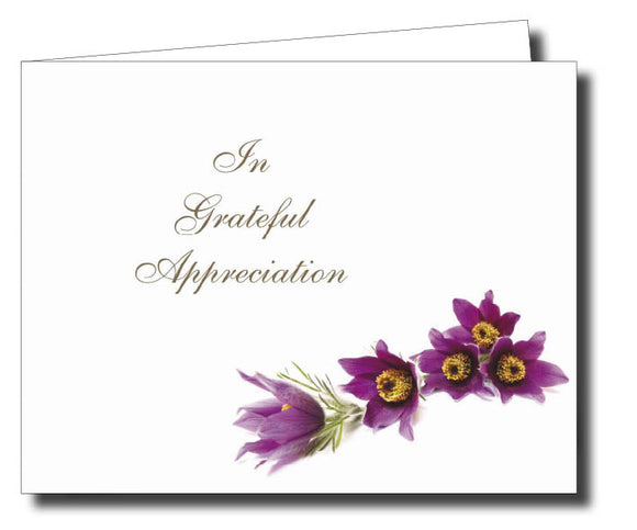 Acknowledgment Card Folded 1454 - Jayceefinecards