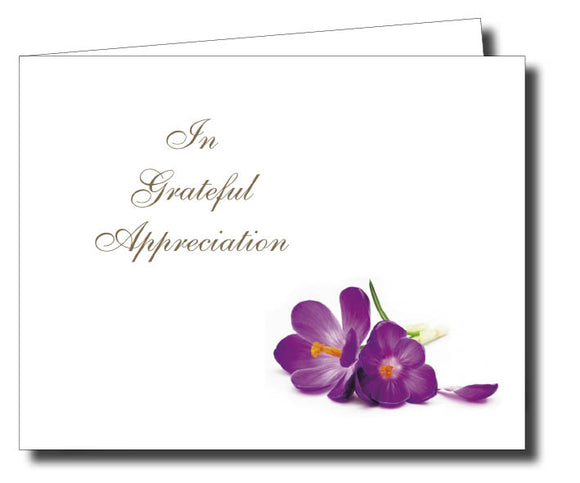 Acknowledgment Card Folded 1457 - Jayceefinecards