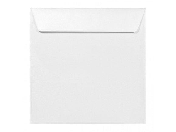 Square 170mm Pearl White Envelope - Jaycee
