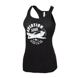 Aviation Soul Airplane Logo Women's Tank Top