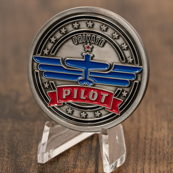 Private Pilot Aviation Challenge Coin