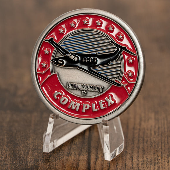 Complex Endorsement Aviator Challenge Coin