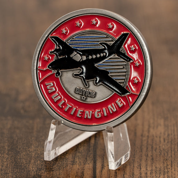 Multiengine Rating Aviator Challenge Coin
