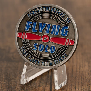 First Solo Aviation Challenge Coin