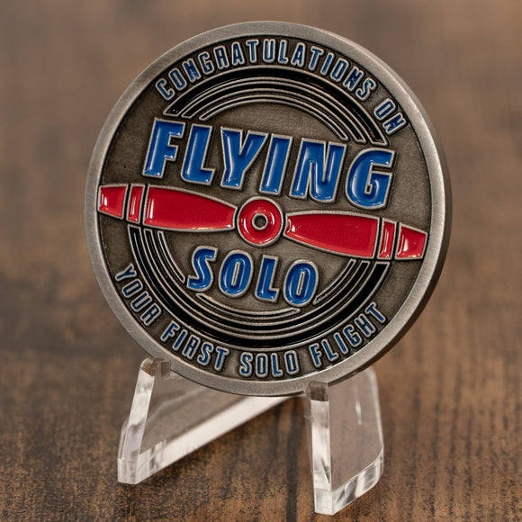 First Solo Aviator Challenge Coin