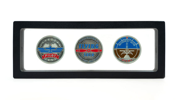 Private and Instrument Rated Pilot Aviator Challenge Coin Set