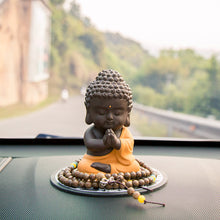 Load image into Gallery viewer, Handmade Meditating Sitting Buddha Statue Sculpture Figurine Home / Car Deck Decoration Rustic Oriental Accent