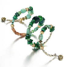 Load image into Gallery viewer, green yoga crystal bracelet
