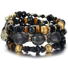 Load image into Gallery viewer, black crystal bracelet