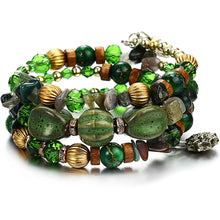 Load image into Gallery viewer, green boho bracelet