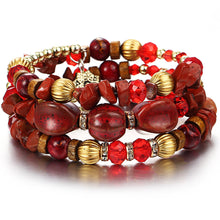 Load image into Gallery viewer, red yoga crystal bracelet