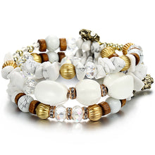 Load image into Gallery viewer, white boho bracelet